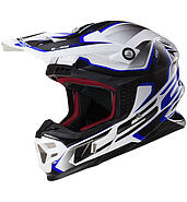 LS2 Kask offroad LS2 MX456 Light Compass White Blue