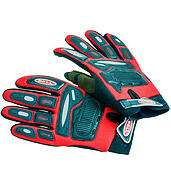 Motorcycle gloves red and black