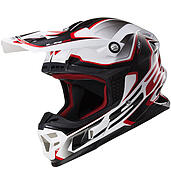 LS2 Kask offroad LS2 MX456 Light Compass White Red