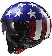 LS2 Kask otwarty LS2 OF561 Wave Raw Blue Red White