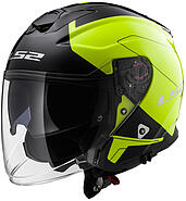LS2 Kask otwarty LS2 OF521 Infinity Beyond Black HI-VIS