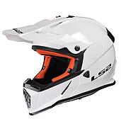 LS2 Kask offroad LS2 MX437 Fast Solid White