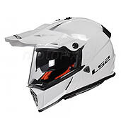 LS2 Kask offroad LS2 MX436 Pioneer Trigger Solid White