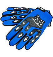 Motorcycle gloves Blue Fox