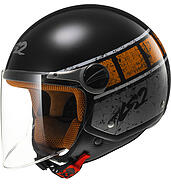 LS2 Kask otwarty LS2 OF560 Rocket II Rook Black Orange