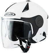 Zeus Open helmet with a blend of white ZEUS ZS612A