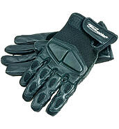 Motorcycle gloves IM black mesh