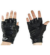 IM motorcycle gloves without finger snaps reinforced perforated