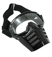 Enduro goggles with black mask