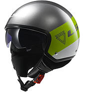 LS2 Kask otwarty LS2 OF561 Wave Beat Fluo Green