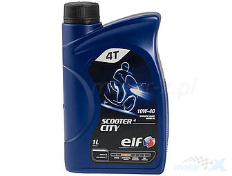 Engine oil Elf Scooter City 4 Semi-synthetic 4T 10W40 1L