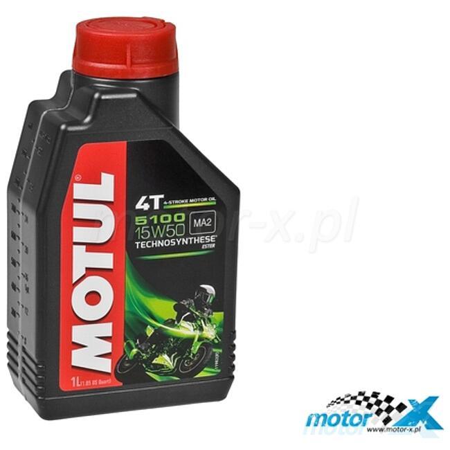 Engine Oil MOTUL 5100 Technosynthese semi-synthetic Ester 4T 15W50 1L