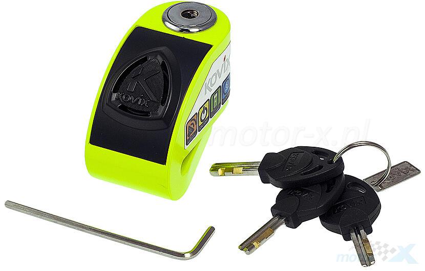 Blokada tarczy hamulcowej 6mm z alarmem żółta KOVIX KD6