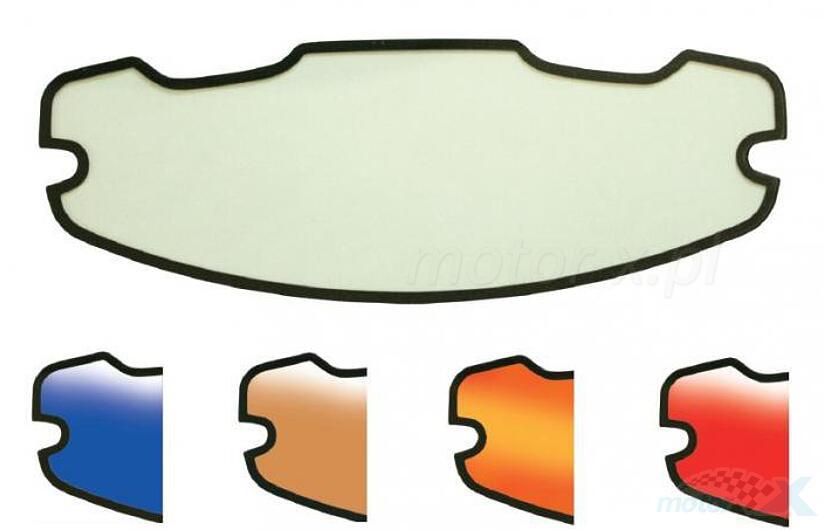 Uniwersalna wklejana szybka wewnętrzna do kasku (antifog) kolor rainbow Progrip