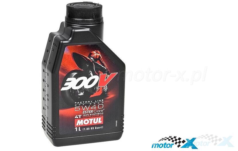 Olej silnikowy MOTUL 300V Road Racing syntetyczny 4T 5W40 1L