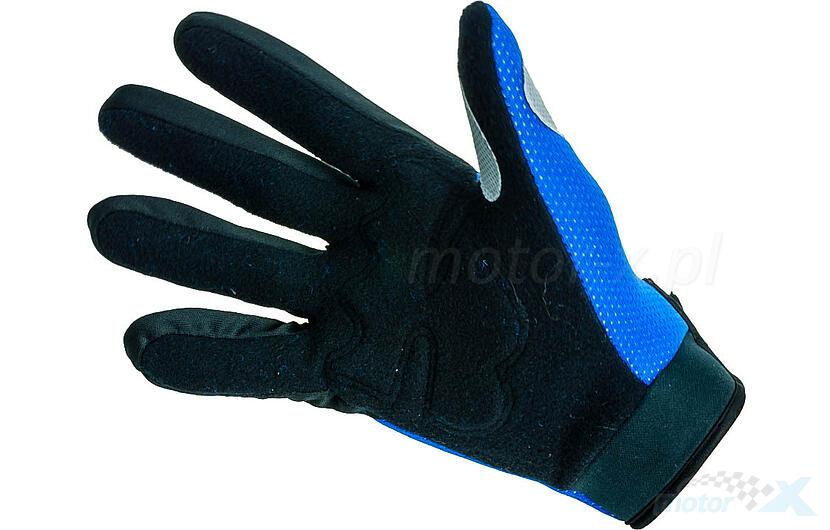Rękawice motocyklowe niebieskie Fox